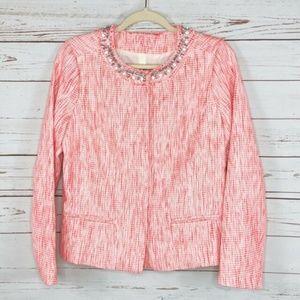 NYDJ Tweed Embellished Jacket Blazer